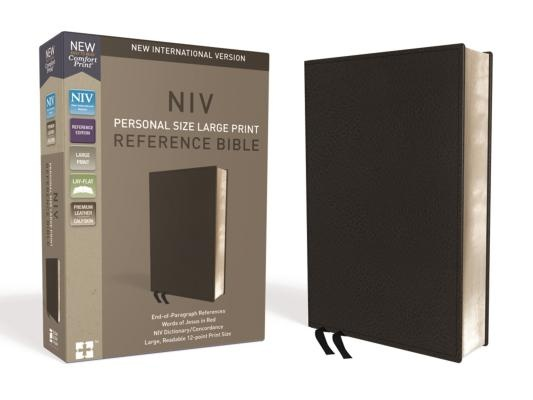 NIV Personal Size Reference Bible Red Letter Edition [Large Print, Black] by Zondervan, ISBN: 9780310449768