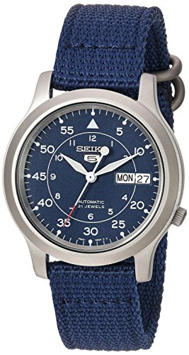 Seiko Men's SNK807 Seiko 5 Automatic Stainless Steel Watch with Blue Canvas Band by Unknown, ISBN: 4954628029591