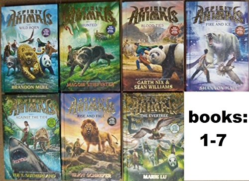 Spirit Animals Series SET , Books 1-7 . #1. Wild Born , #2. Hunted , #3. Blood Ties, #4. Fire and Ice, #5. Against the tide, #6 Rise and Fall, #7. The evertree by Nix, garth; schrefers, eliot; Hale, Shannon; Stiefvater, Maggie; Lu, Marie, ISBN: 9780005452578