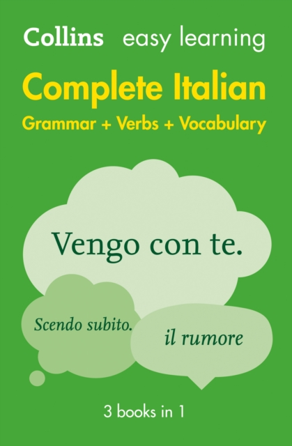 Easy Learning Complete Italian Grammar, Verbs and Vocabulary (3 books in 1) (Collins Easy Learning Italian)
