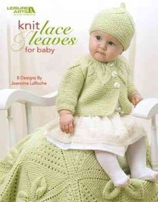 Knit Lace & Leaves for Baby