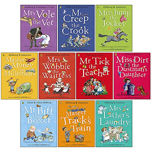 Happy Families Collection Allan Ahlberg 10 Books Set in a Bag Children Gift Pack