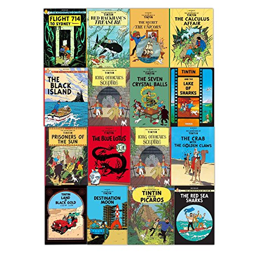 Tintin Collection 8 Volumes 1-8 Set