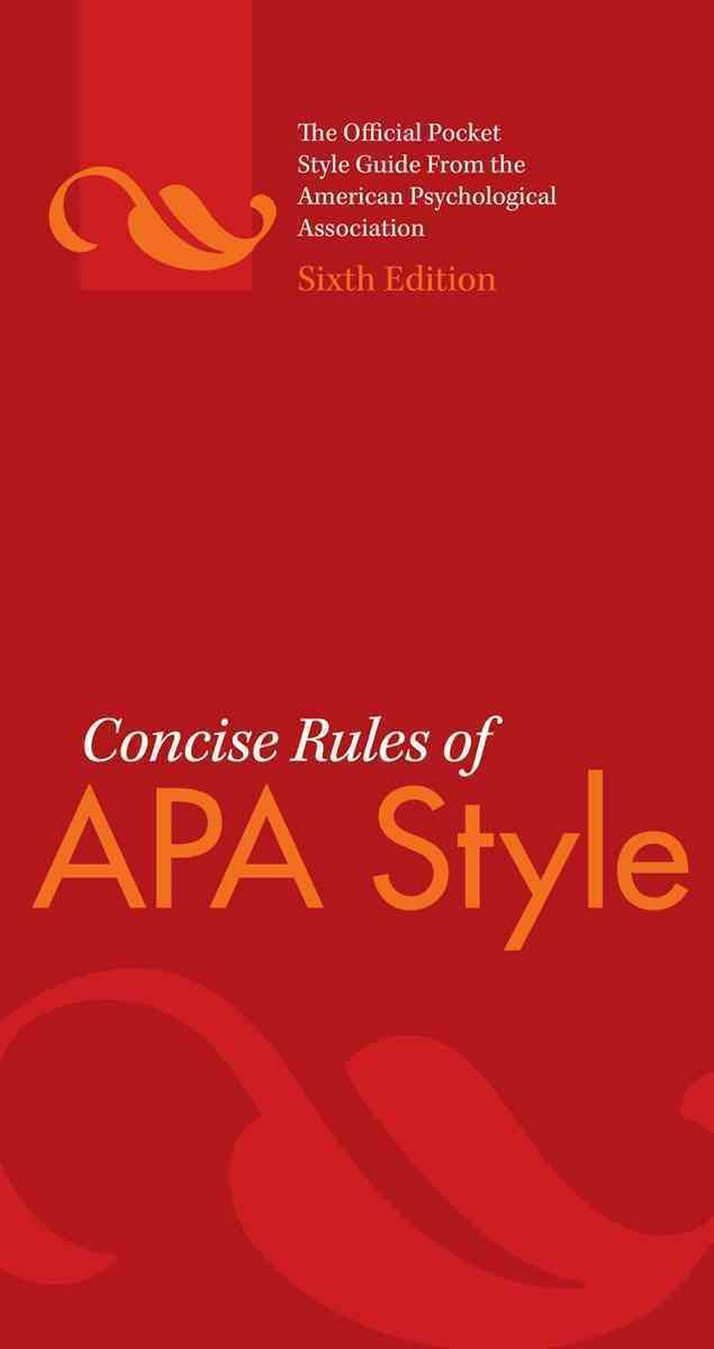 Concise Rules of APA Style by American Psychological Association, ISBN: 9781433805608