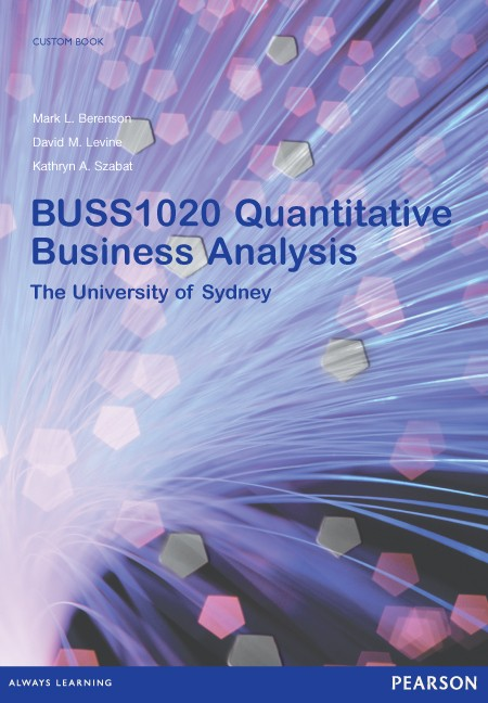 Quantitative Business Analysis BUSS1020