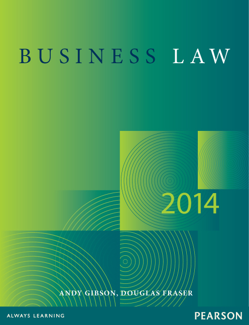 Business Law 2014 (8th Ed.) by Gibson, Fraser