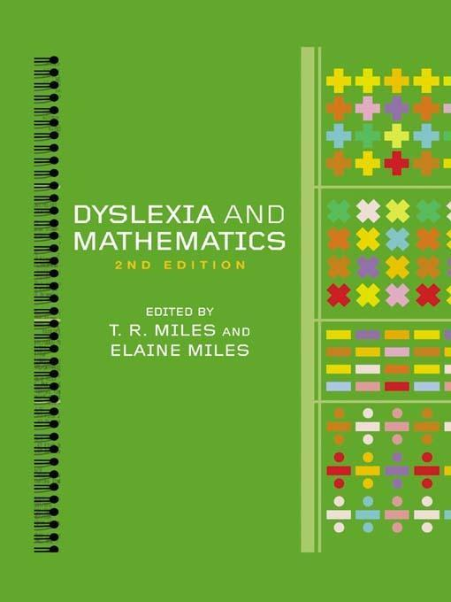 Dyslexia and Mathematics by Elaine MilesTim Miles, ISBN: 9781136000942