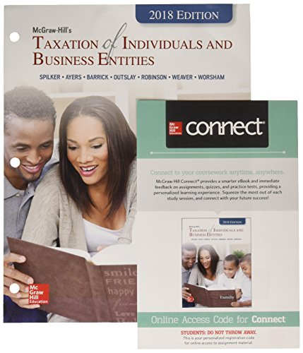 Gen Combo LL McGraw-Hill Taxation of Individuals & Business Entities; Connect AC