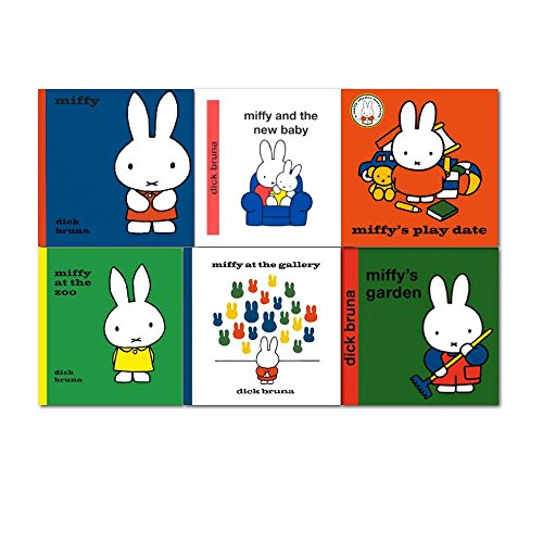 New Miffy Classic Library Collection 6 Books Set By Dick Bruna, (Miffy and the New Baby, Miffy's Garden,Miffy, Miffy at the Gallery, Miffy at the Zoo and[paperback] Miffy's Play Date)