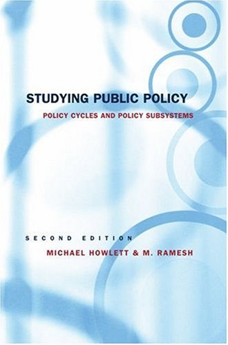 Studying Public Policy by Michael Howlett, ISBN: 9780195417944