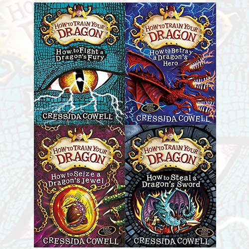 Cressida Cowell How To Train Your Dragon Series 4 Books Bundle Collection (12: How to Fight a Dragon's Fury [Hardcover],11: How to Betray a Dragon's Hero,10: How to Seize a Dragon's Jewel,9: How to Steal a Dragon's Sword) by Cressida Cowell, ISBN: 9787463028987