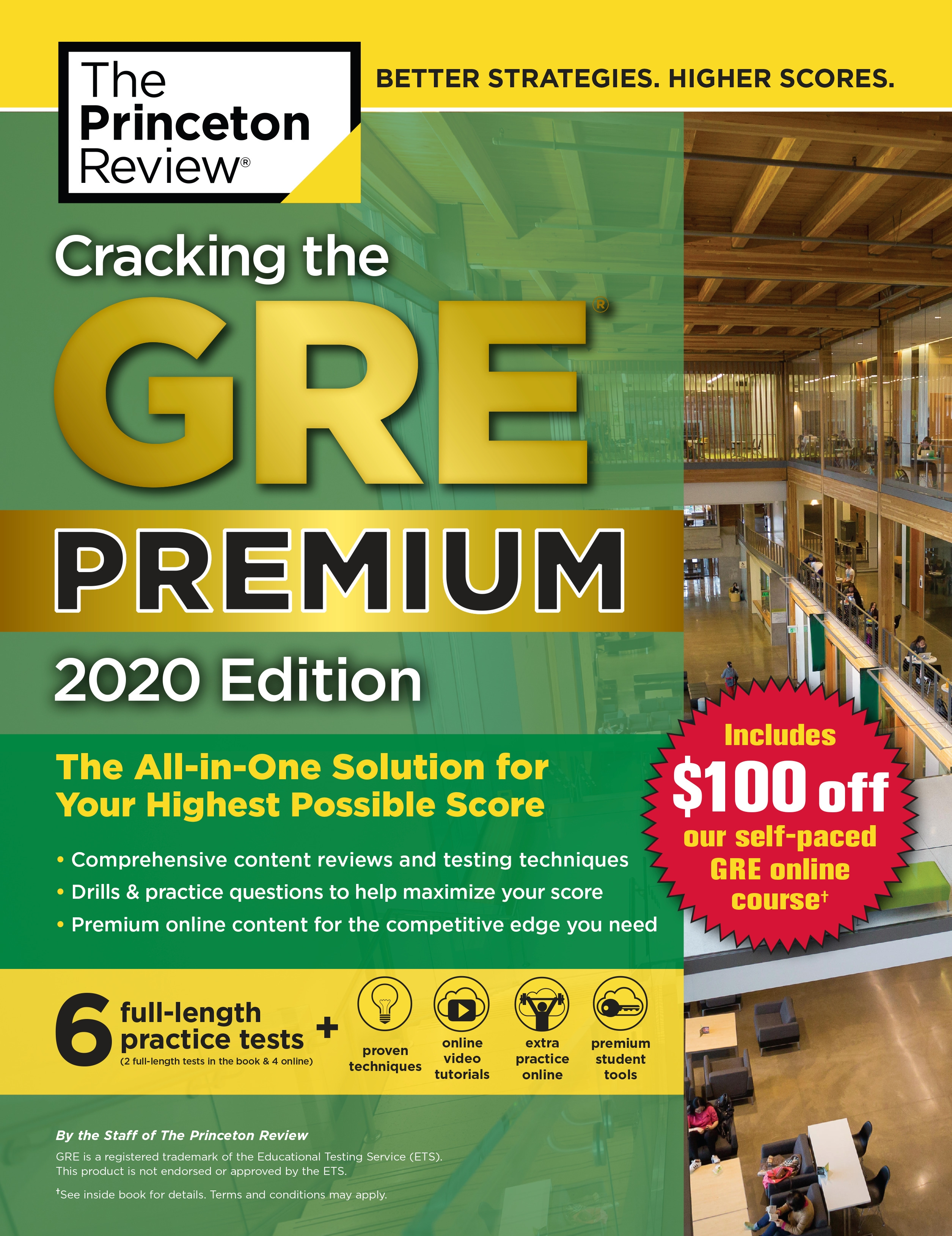 Cracking the GRE Premium Edition with 6 Practice Tests, 2020 (Graduate School Test Preparation) by Princeton Review, ISBN: 9780525568049