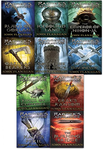 John Flanagan Rangers Apprentice Series Collection 10 Books Set (Book 1-10)
