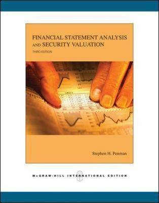 Financial Statement Analysis and Security Valuation, 3/ed