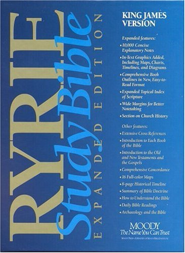 King James Version: Red Letter Editions (Ryrie study Bible expanded edition)