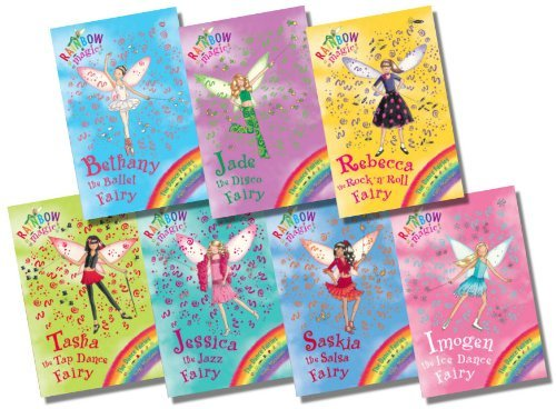 Rainbow Magic Dance Fairies Collection - 7 Books RRP £34.93 (50: Bethany the Ballet Fairy; 51: Jade the Disco Fairy; 52: Rebecca the Rock 'n' Roll Fairy; 53: Tasha the Tap Dance Fairy; 54: Jessica the Jazz Fairy; 55: Saskia the Salsa Fairy; 56: Imogen the