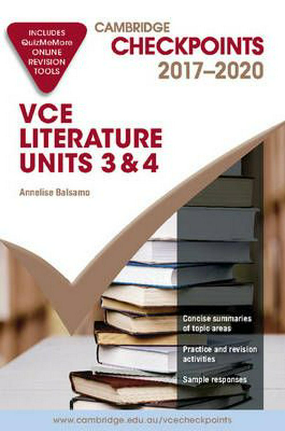 Cambridge Checkpoints VCE Literature 2017-19Cambridge Checkpoints