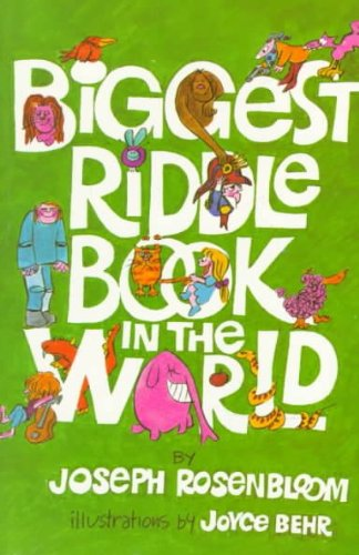Biggest Riddle Book in the World (Revised) Rosenbloom, Joseph ( Author ) Sep-15-1976 Paperback