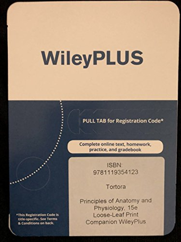 Principles of Anatomy and Physiology, 15E WileyPlus Card