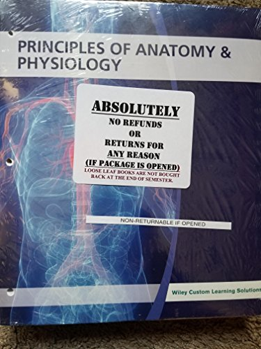 PRINCIPLES OF ANATOMY AND PHYSIOLOGY WILEYPLUS PKG. LLF