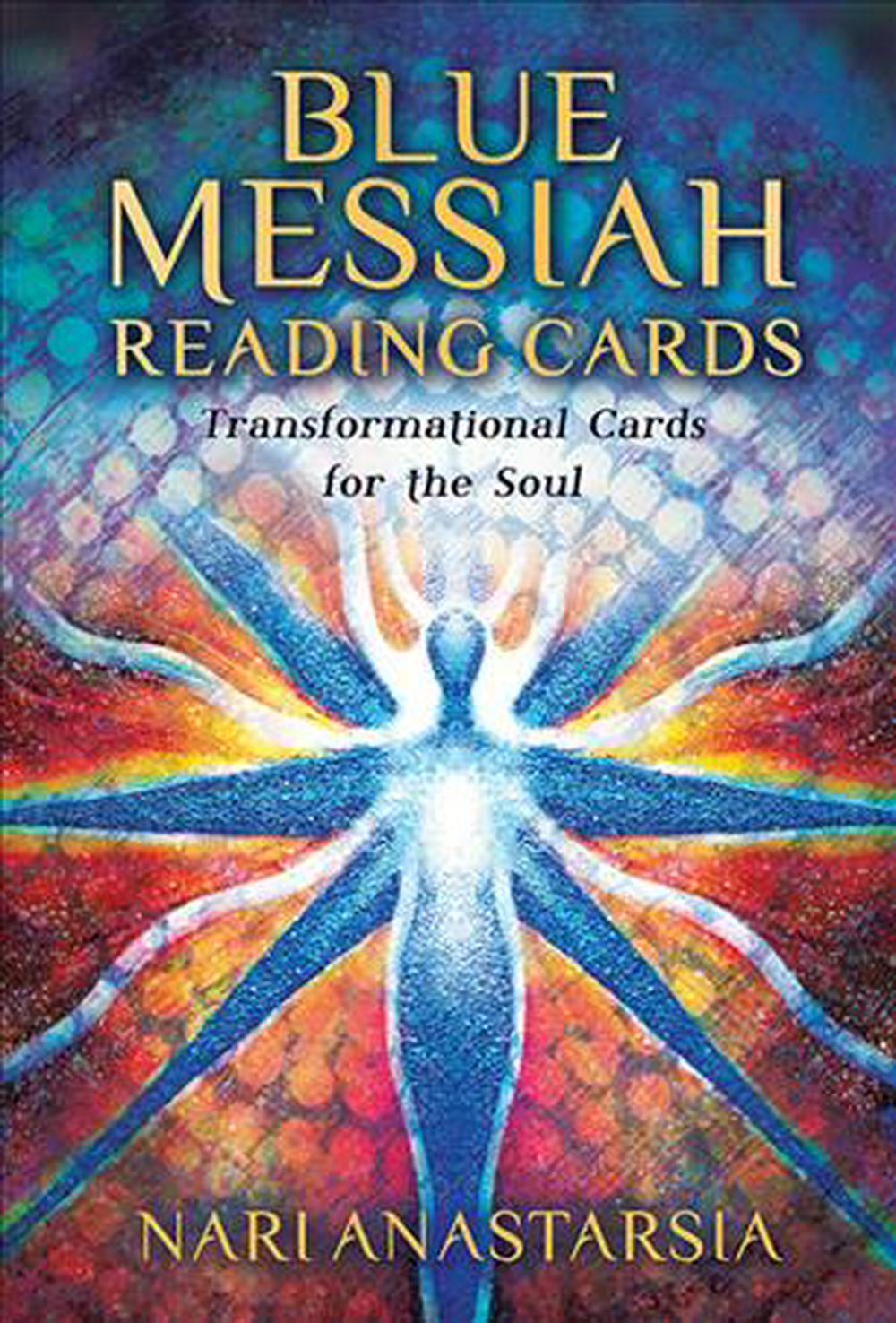 Blue Messiah Reading Cards: Transformational Cards for the Soul - 36 full colour cards and 120 page book