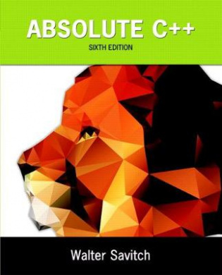 Absolute C++ by Walter Savitch, ISBN: 9780133970784