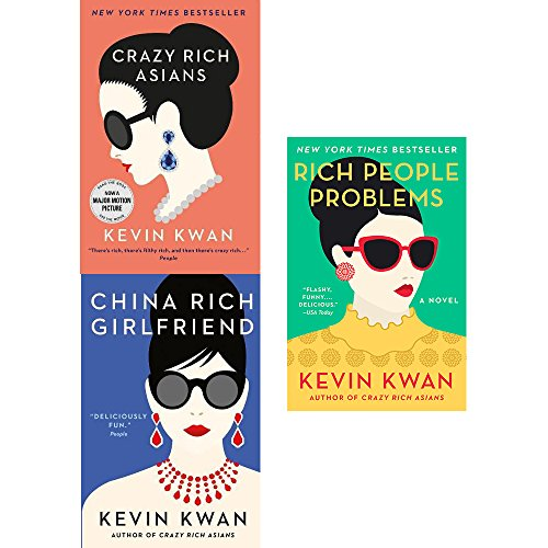 Crazy rich asians, china rich girlfriend and rich people problems 3 books collection set