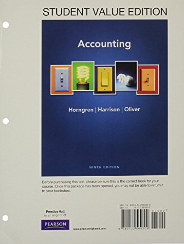 accounting horngren 9th edition