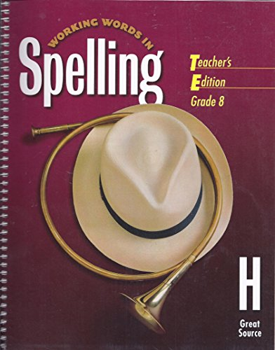 Cover Art for Great Source Working Words in Spelling, ISBN: 9780669459586