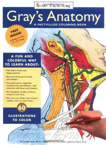 Grays Anatomy Coloring Book Start Exploring Books