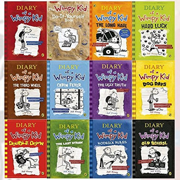 Booko Comparing Prices For Diary Of A Wimpy Kid Collection 12 Books Set Double Down Old School Hard Luck Third Wheel Cabin Fever The Ugly Truth Dog Days Do It Yourself Book Diary Of A