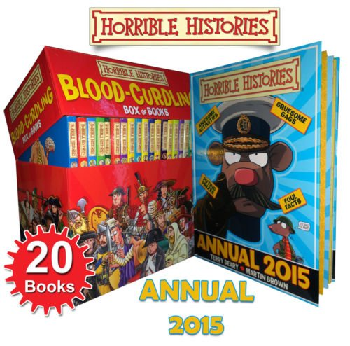 Blood Curdling Horrible Histories 20 Books Box Set 2015 Annual Book Collection