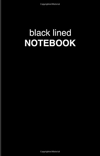 Black Lined Notebook by Bullet Journal, ISBN: 9781541389298