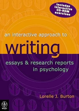 interactive approach to writing essays and research reports in psychology Students can purchase their interactive textbook from wiley direct: an interactive approach to writing essays and research reports in psychology, 4th edition wiley direct is an initiative of the wiley affordability program.