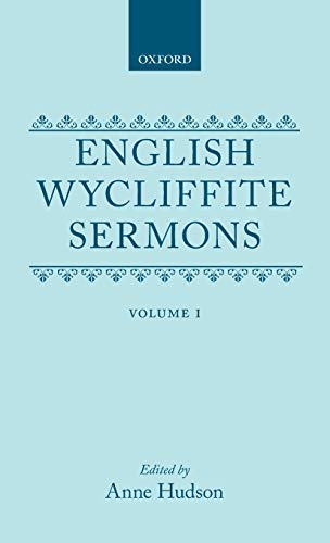 English Wycliffite Sermons by John Wycliffe, ISBN: 9780198127048