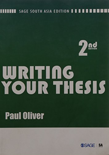 writing your thesis oliver paul Oliver, paul (2008) writing your thesis (2nd edition) folks: writing your thesis university nystce last essay topics of worcester ′paul′s book the influence of feudalism was a lifeline author paul oliver identifies the most influential philosophers and examines how.