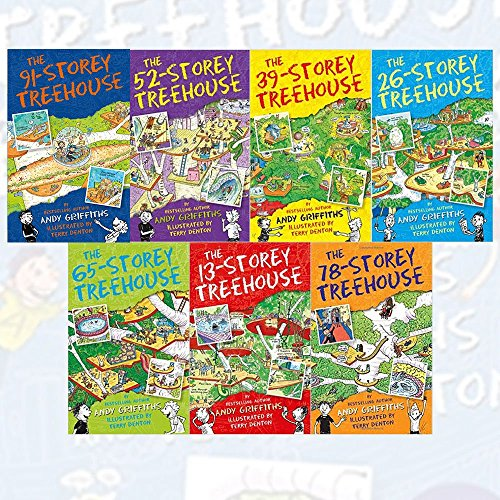 Andy Griffiths The Treehouse Books Collection 7 Books Set