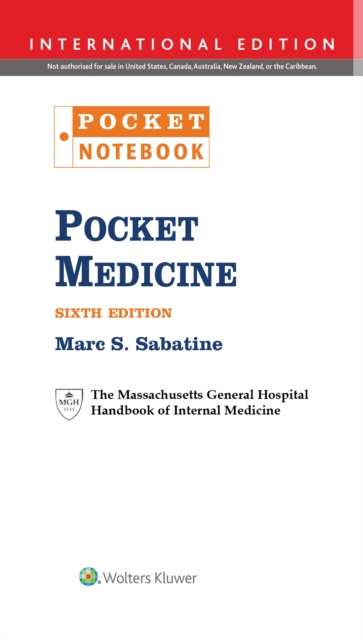 Pocket MedicineThe Massachusetts General Hospital Handbook of ...