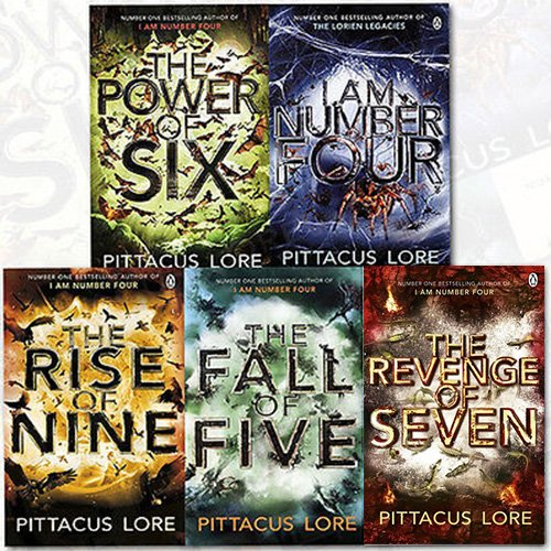 The Lorien Legacies Series Pittacus Lore Collection 5 Books Bundle (I Am Number Four,The Power of Six,The Rise of Nine,The Fall of Five,The Revenge of Seven)
