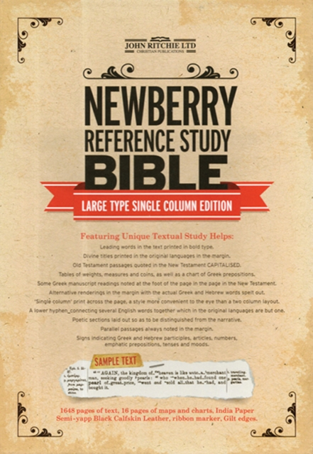 Newberry Reference Study Bible-OE-Large Type