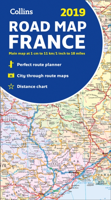2019 Collins Map of France by Collins Maps, ISBN: 9780008313500