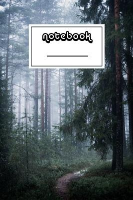 Notebook: Forest with Fog Notebook Beautiful 100-Page College-Ruled Work Book to Write in Stylish 6 X 9 Lined Journal (Cool Notebooks)