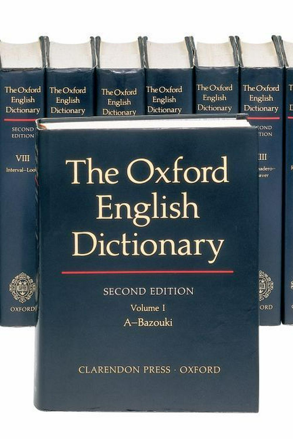 The Oxford English Dictionary: Vols 1-20