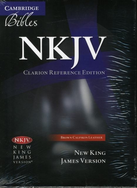 NKJV Clarion Reference Bible NK485: X Brown Calfskin Leather