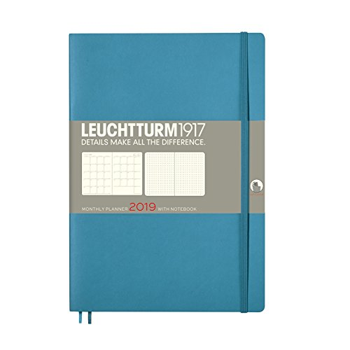 Leuchtturm1917 Monthly Planner Diary 2019, 16 Month, Composition (B5), Nordic Blue by Leuchtturm1917, ISBN: 4004117534850