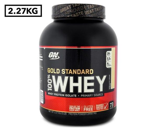 Booko Comparing Prices For Optimum Nutrition Gold Standard 100 Whey Protein Vanilla Ice Cream 2 27kg