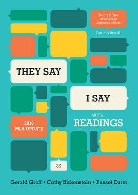 """They Say / I Say""The Moves That Matter in Academic Writing, with..."