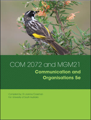 Communication in Organisations 5e Custom Publication