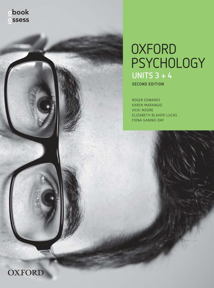 Oxford VCE Psychology Units 3+4 Student Book + Obook