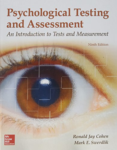 Gen Combo Psychological Testing and Assessment; Connect Access Card by Ronald Jay Cohen, ISBN: 9781260050394